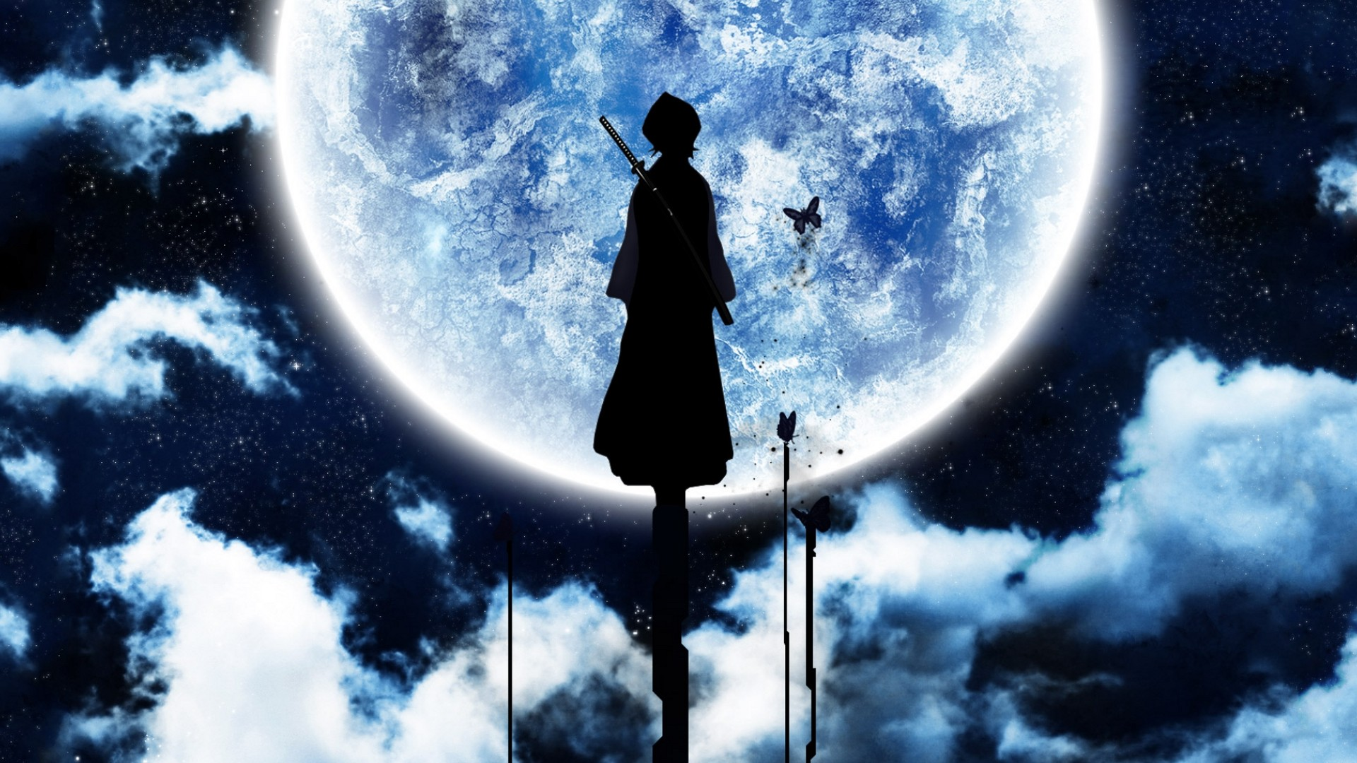 Rukia themed wallpaper