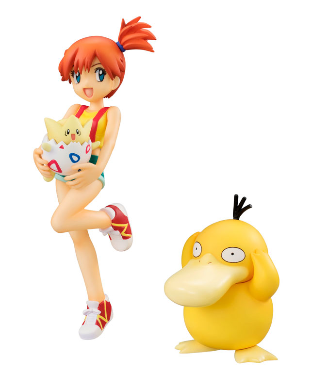 Misty, Togepi and Psyduck