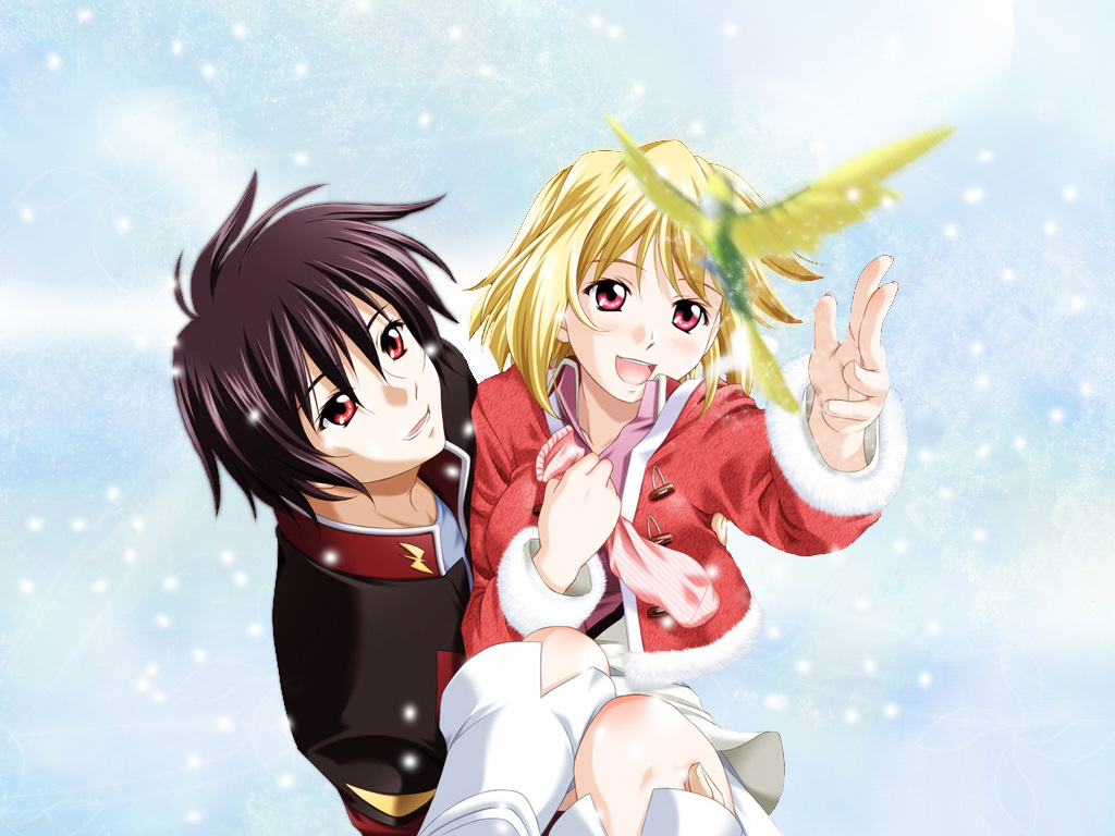 Gundam SEED Siblings Cagalli and Kira
