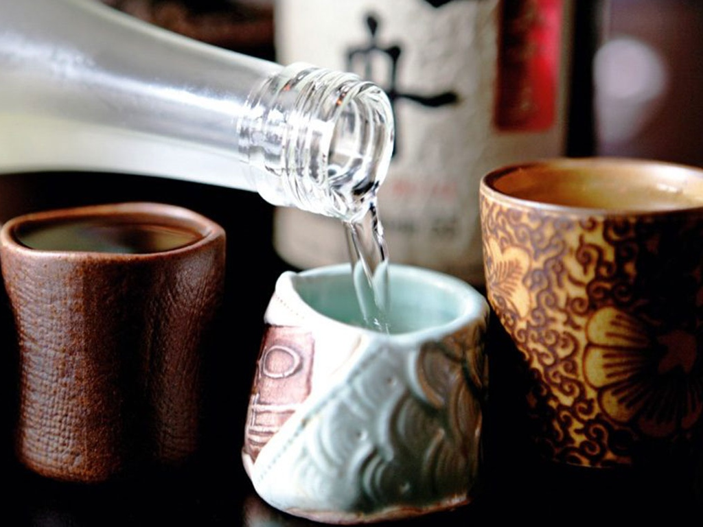 Kampai to sake! The rice beverage!