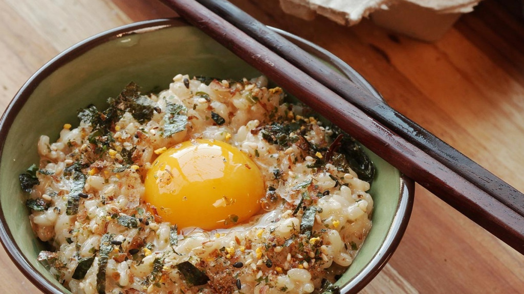 natto rice bowl with soft-boiled egg